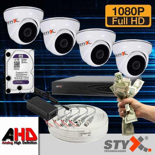 4 kamera güvenlik kamera sistemi fullhd