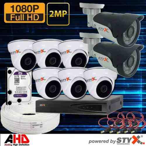 apartman güvenlik kamera sistemi 8 güvenlik kameralı ahd sistem